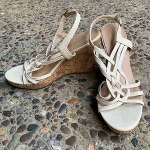 Summer strappy wedges